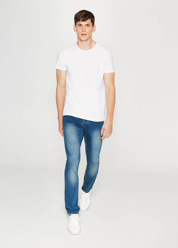 Jeans slim fit stretch con scoloriture | OVS