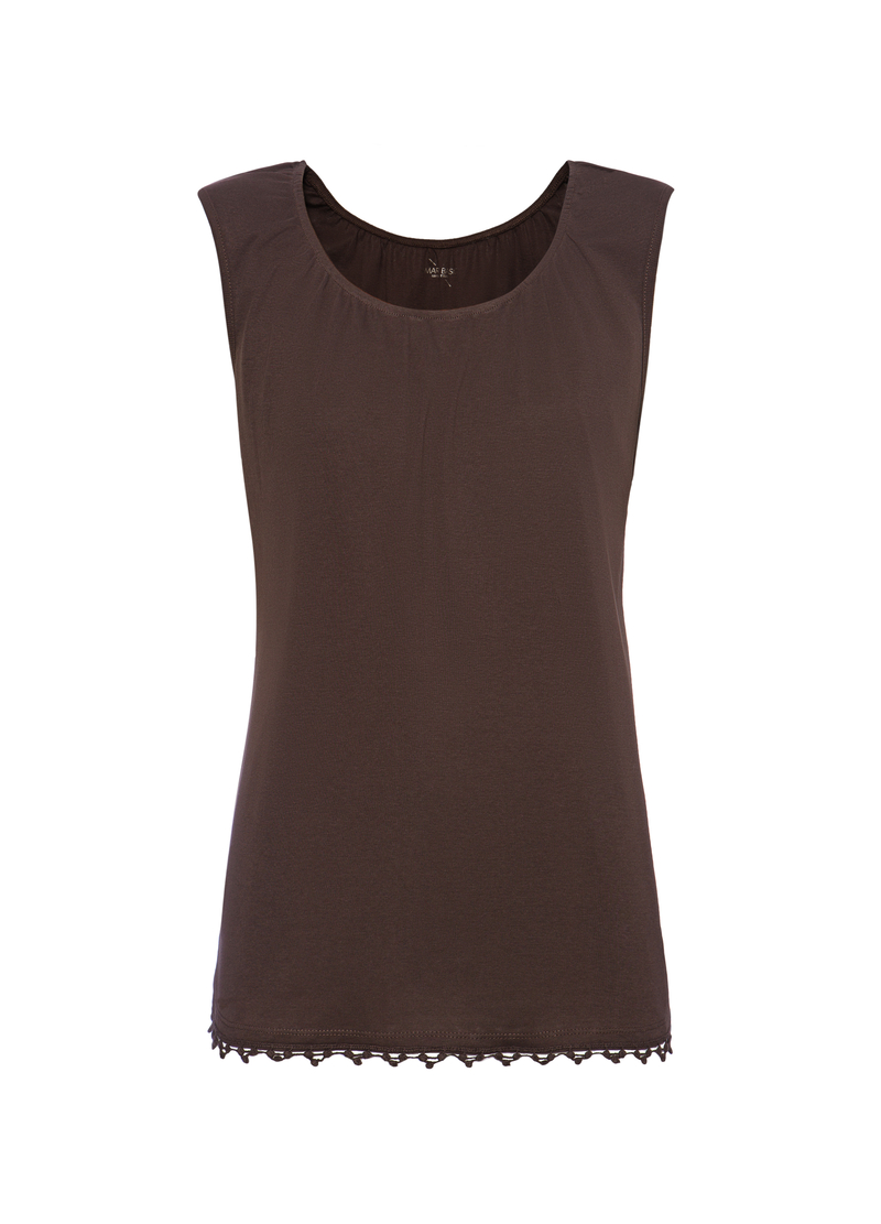 Smart Basic 100% cotton top with round neck image number null