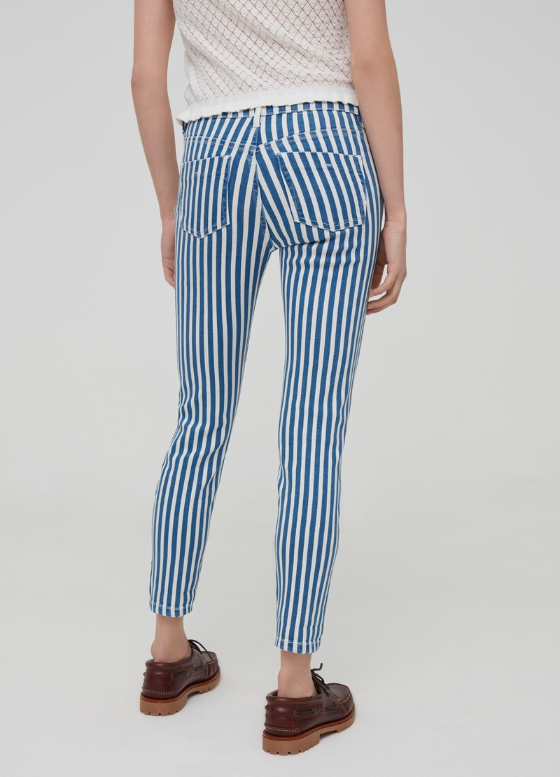 Jeans crop skinny fit a righe image number null