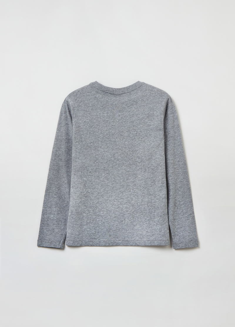 Mélange T-shirt with long sleeves image number null