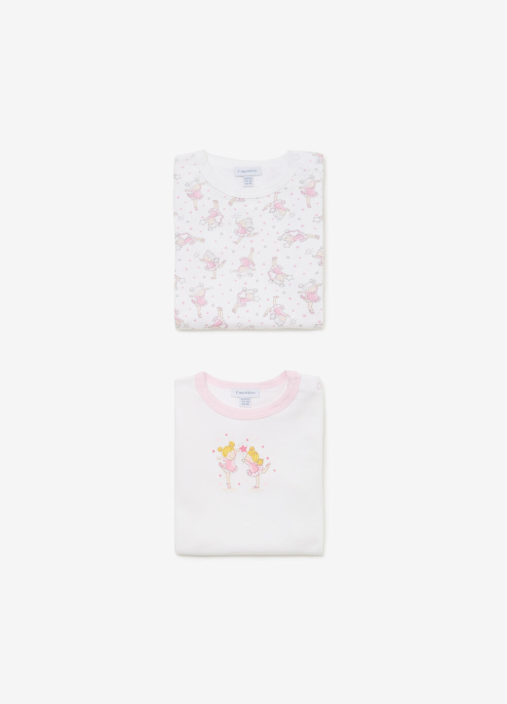 Two-pack solid colour and patterned t-shirts