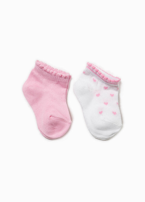 Three-pair pack striped socks with hearts | OVS