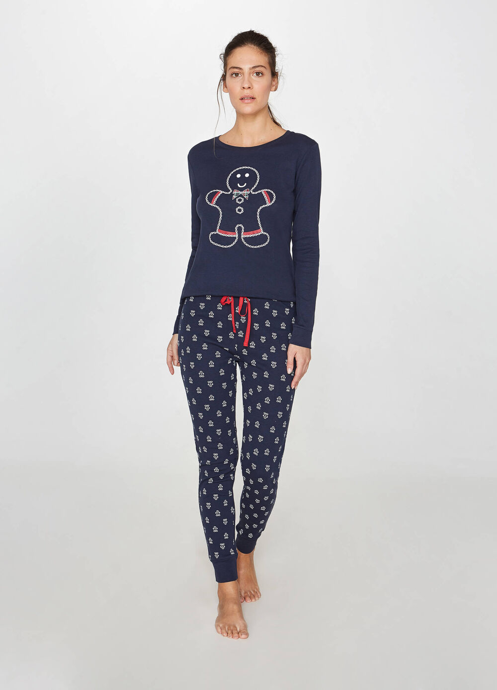 Christmas pattern cotton pyjamas