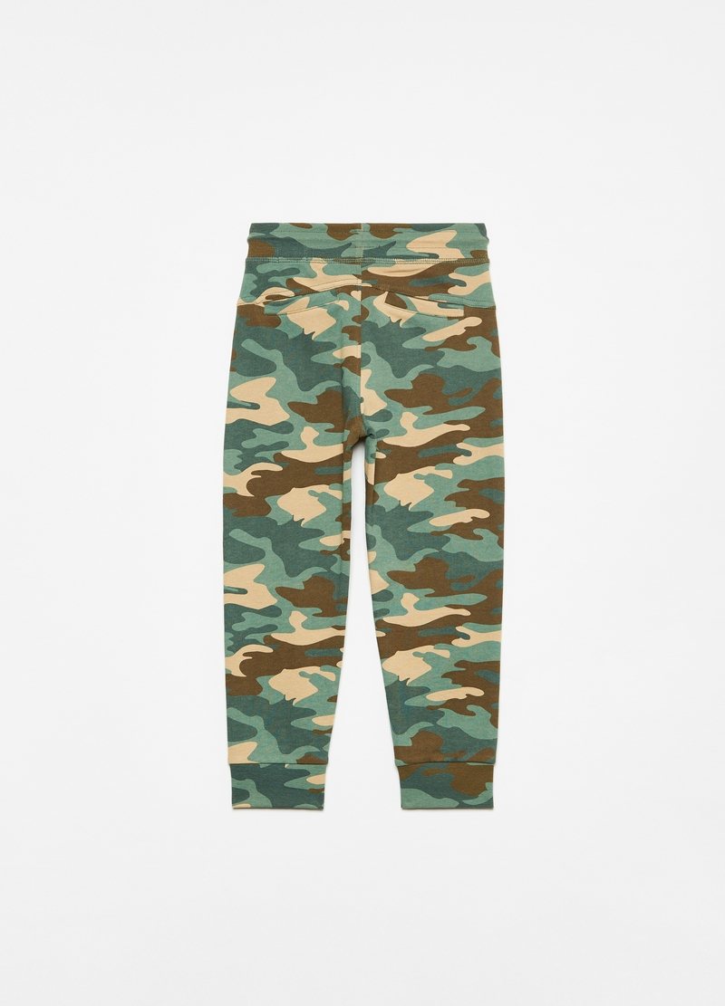 Camouflage cotton joggers image number null