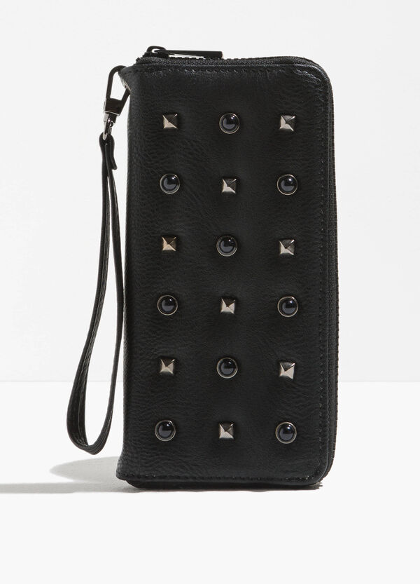 Textured-effect purse with studs | OVS