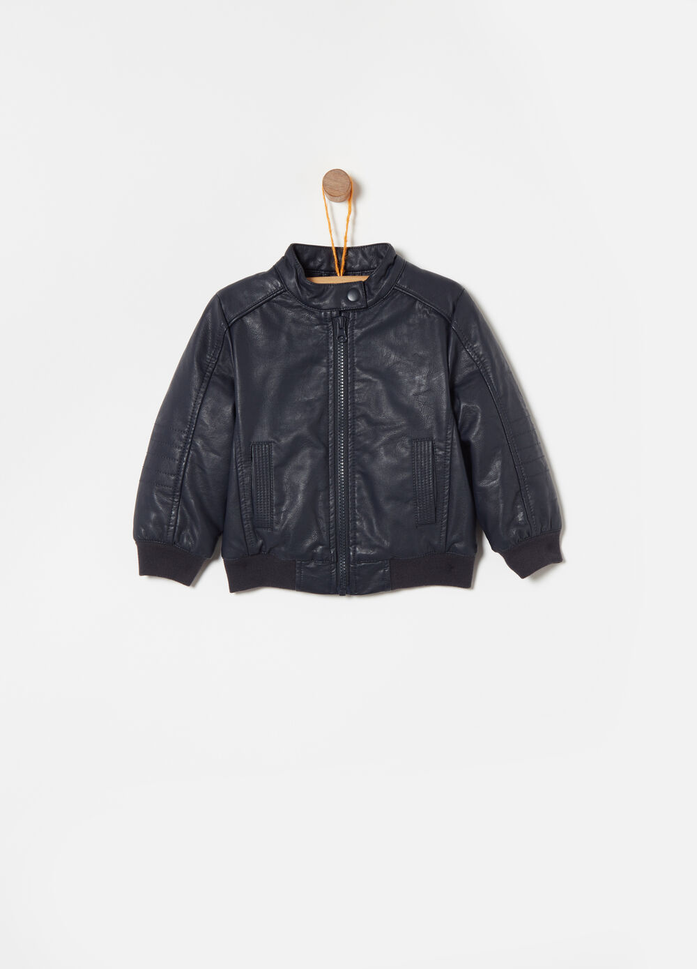 Solid colour bomber jacket in 100% viscose