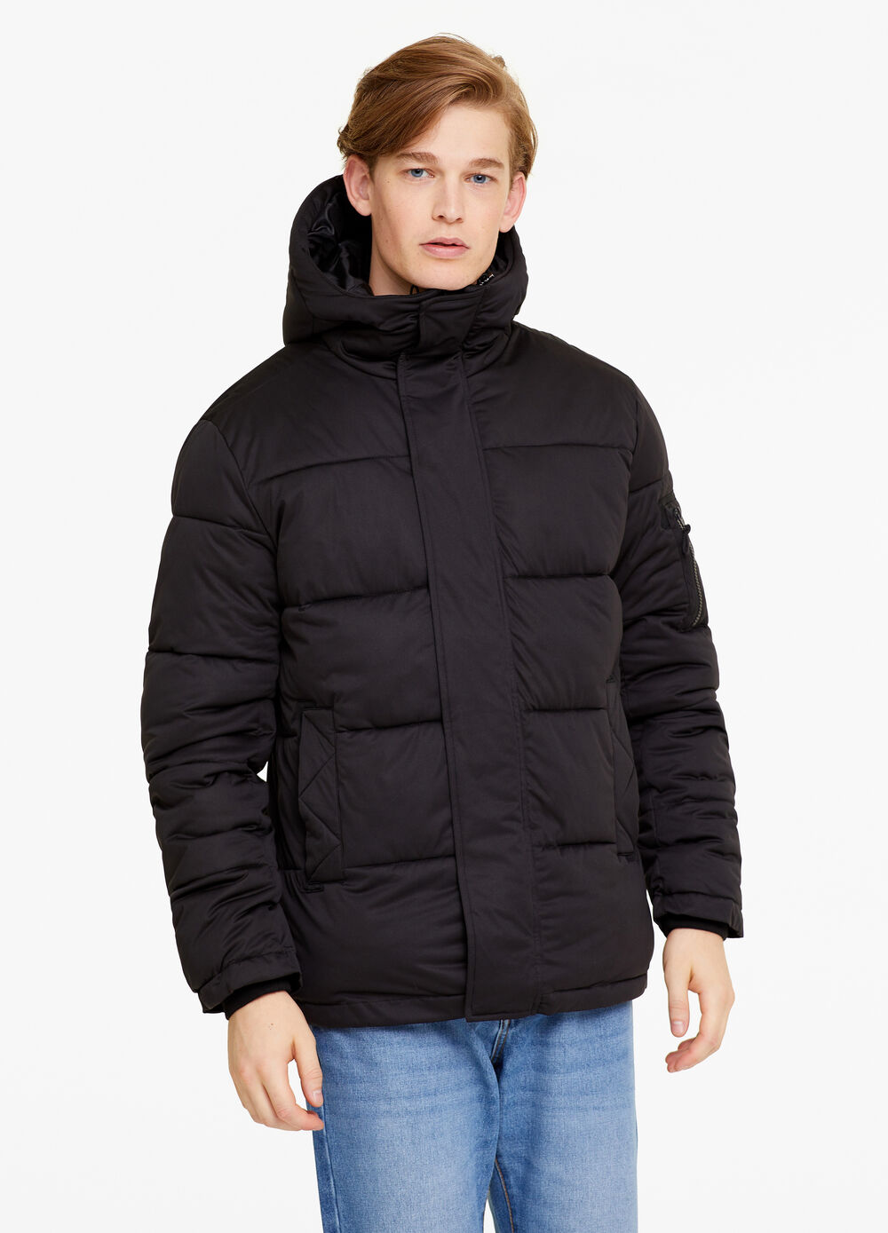 Solid colour water-repellent jacket
