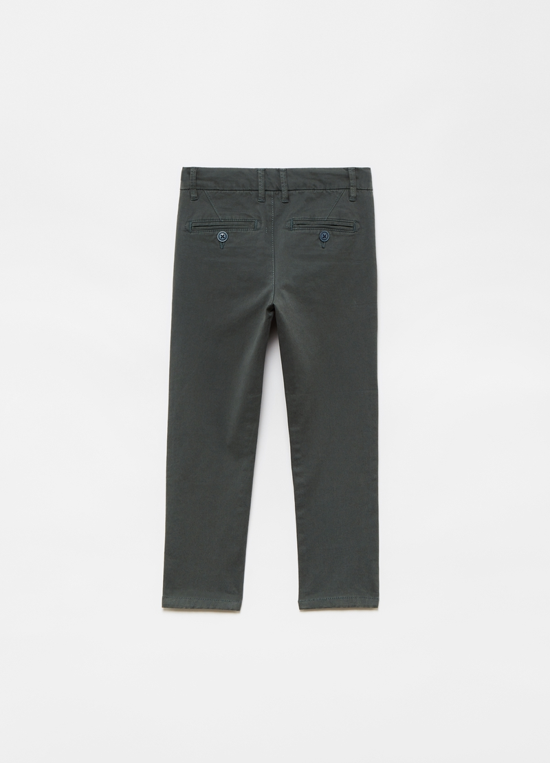 Chino in cotone bio stretch image number null