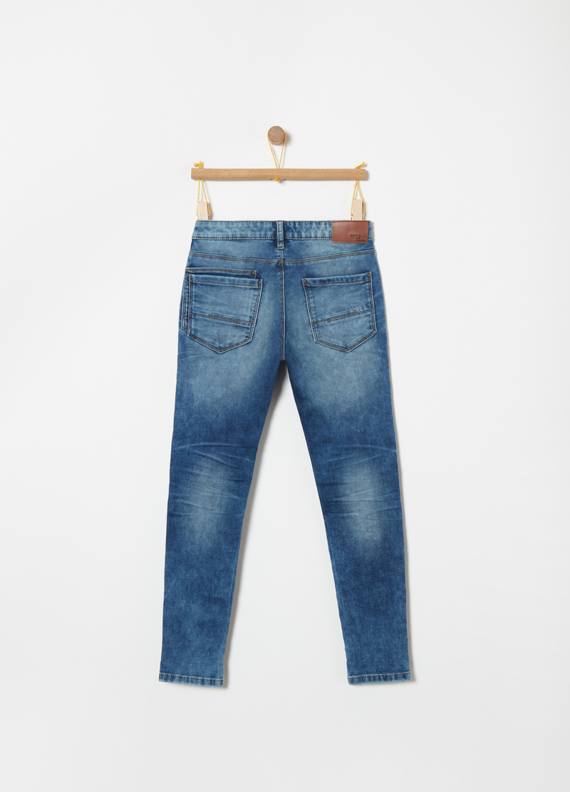 Slim fit, washed-effect jeans image number null