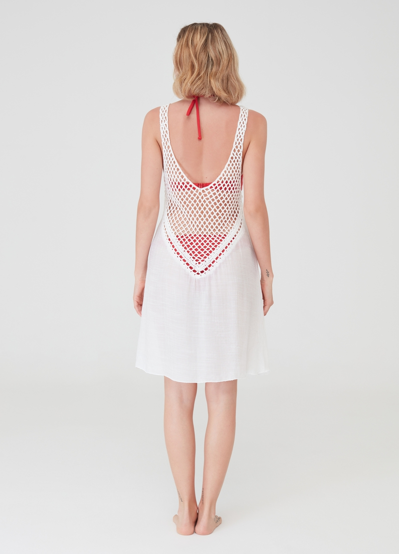 Beach cover-up with openwork top image number null