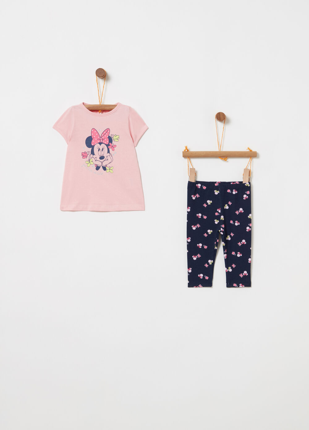 Jogging set in 100% organic cotton with print