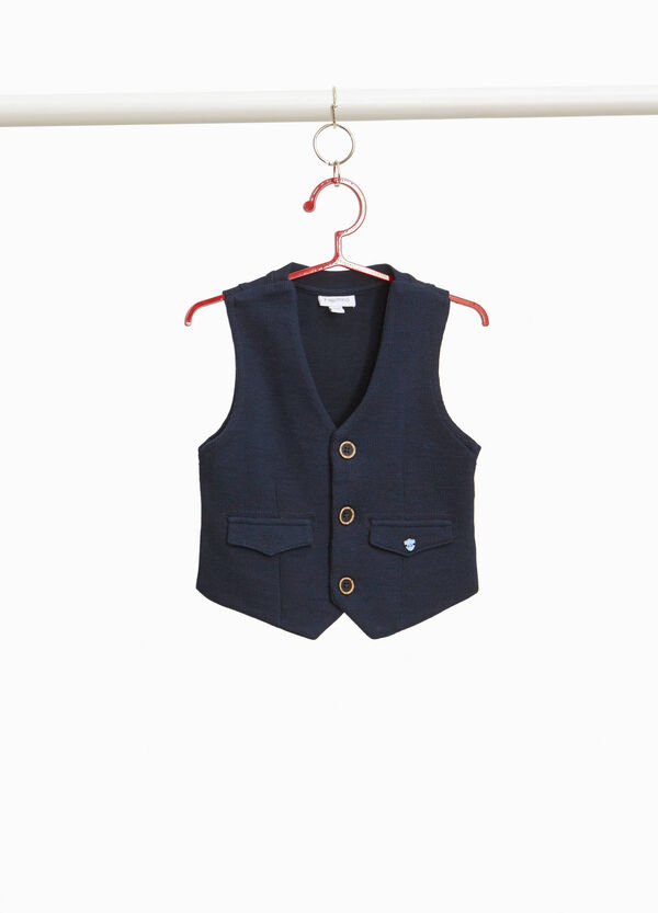 Cotton and viscose blend gilet
