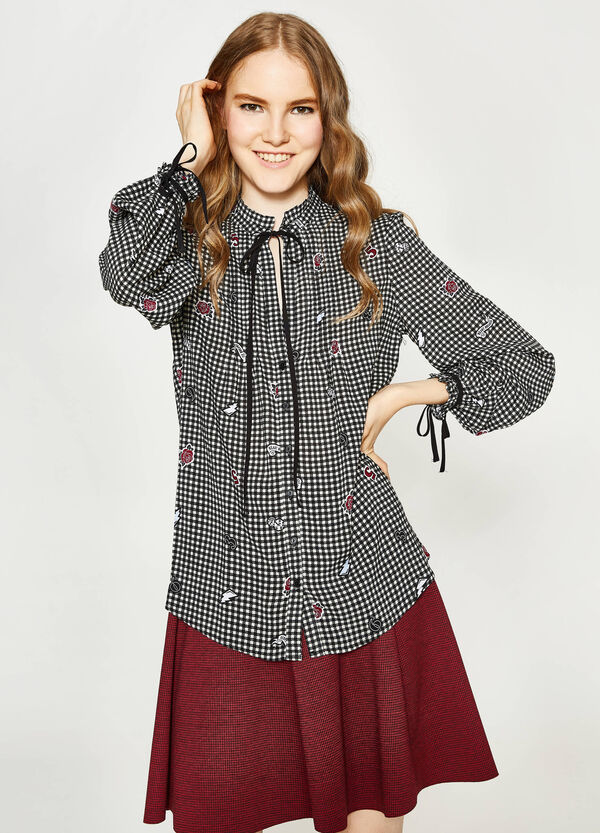 Patterned shirt with ties | OVS