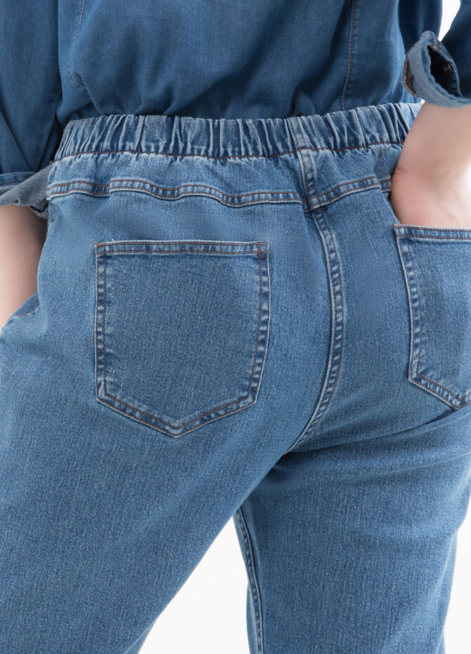 Curvy jeans with elasticated waist