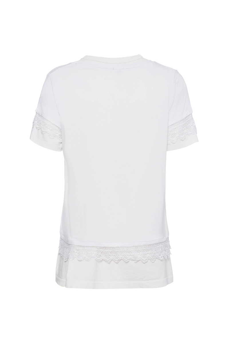 T-shirt stretch pizzo Smart Basic image number null