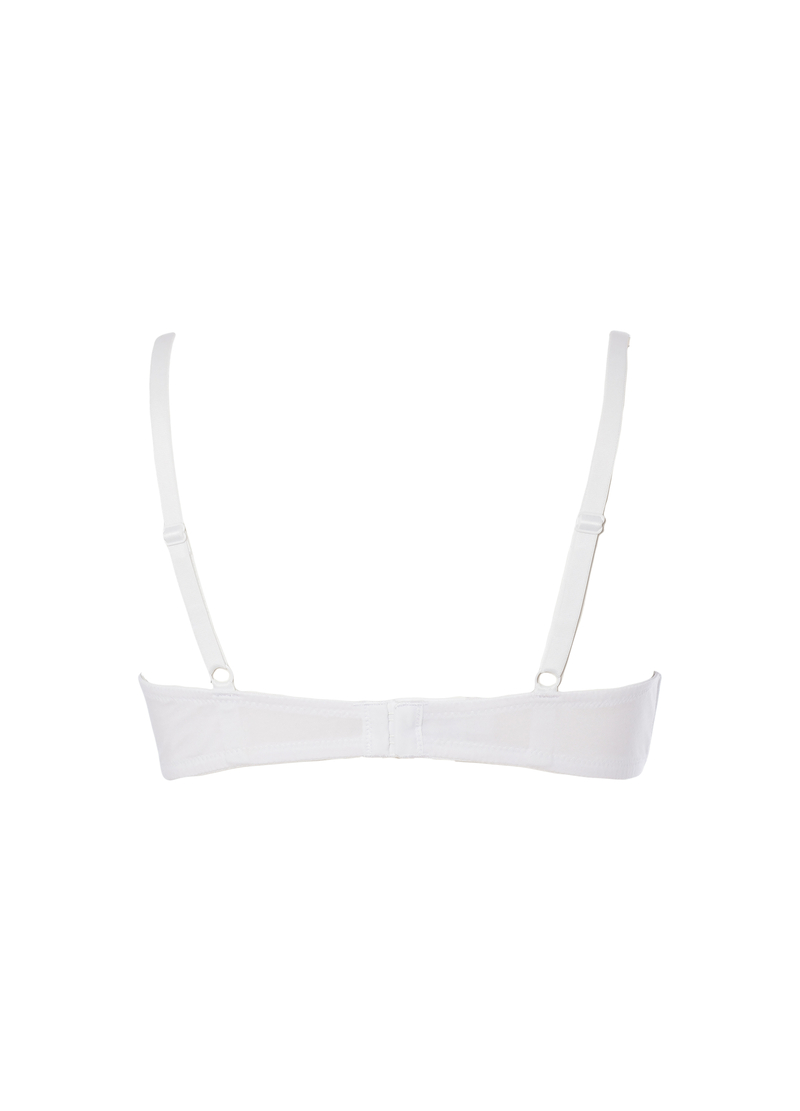 Pre-formed, stretch cotton bra image number null