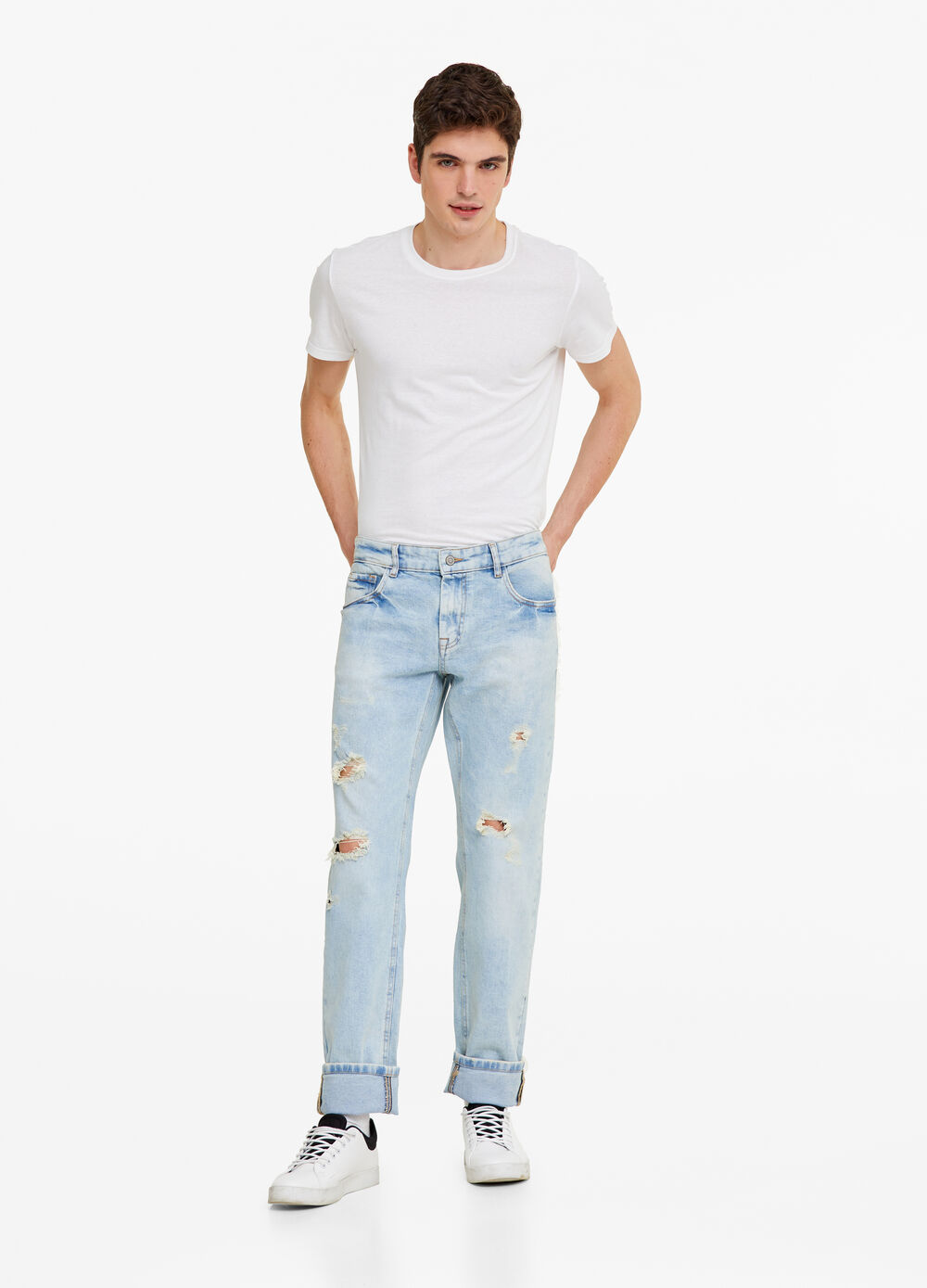 Jeans slim fit vintage wash