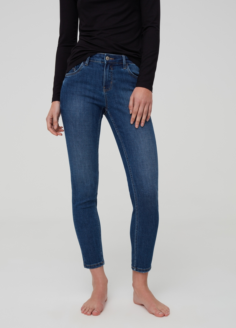 Skinny-fit jeans with five pockets image number null