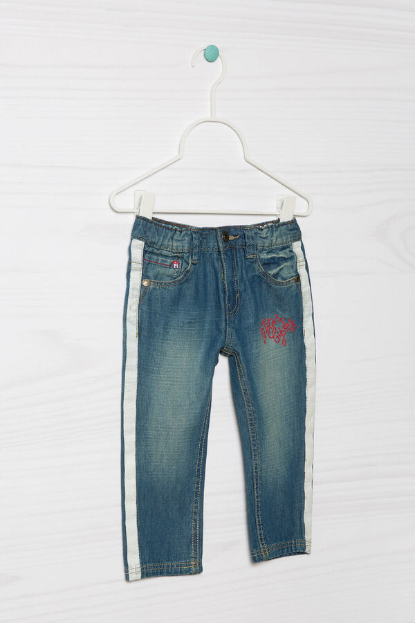 Worn-effect jeans with embroidery | OVS