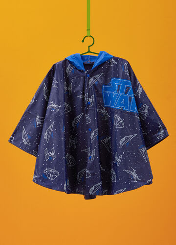 Rain poncho with Star Wars pattern