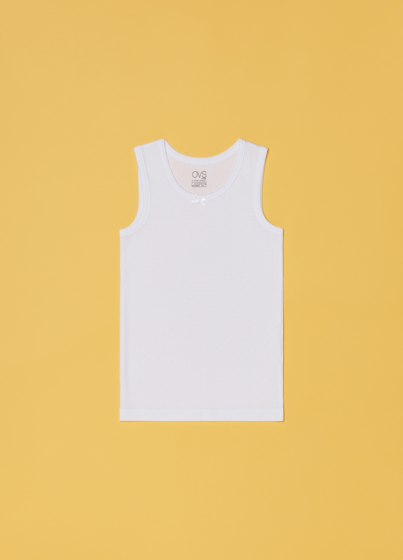 Vest with round neck and bow image number null