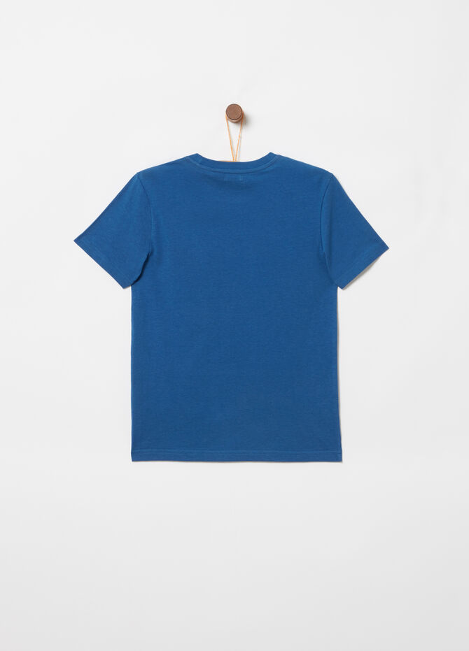 Round neck T-shirt with surfing print