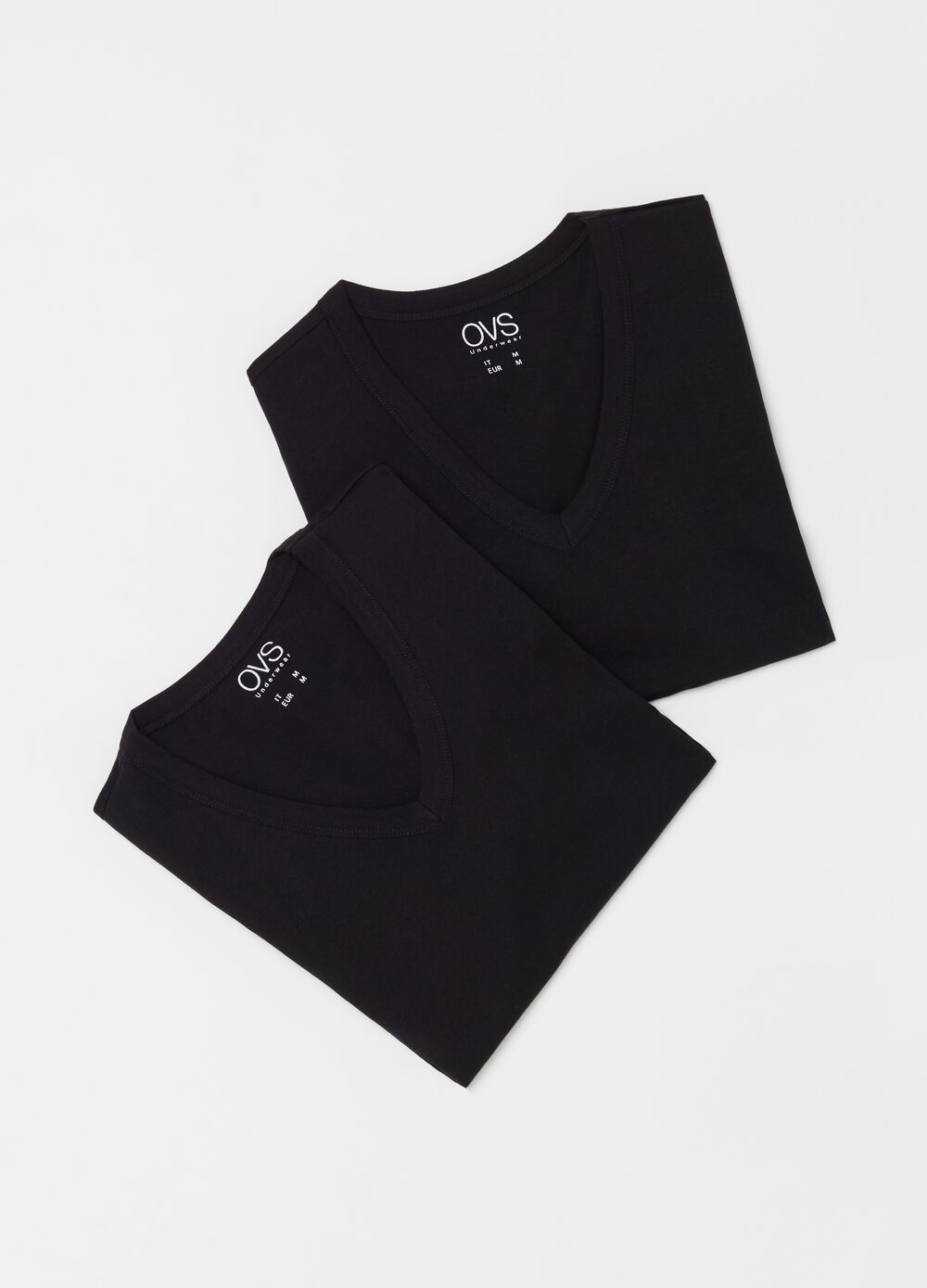 Two-pack undershirts with V neck