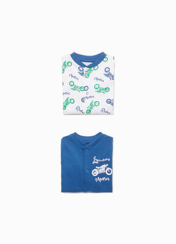 Two-pack onesies with feet in 100% cotton
