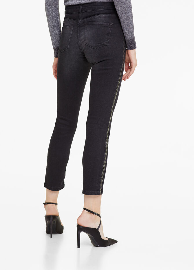 Jeans slim fit con strass