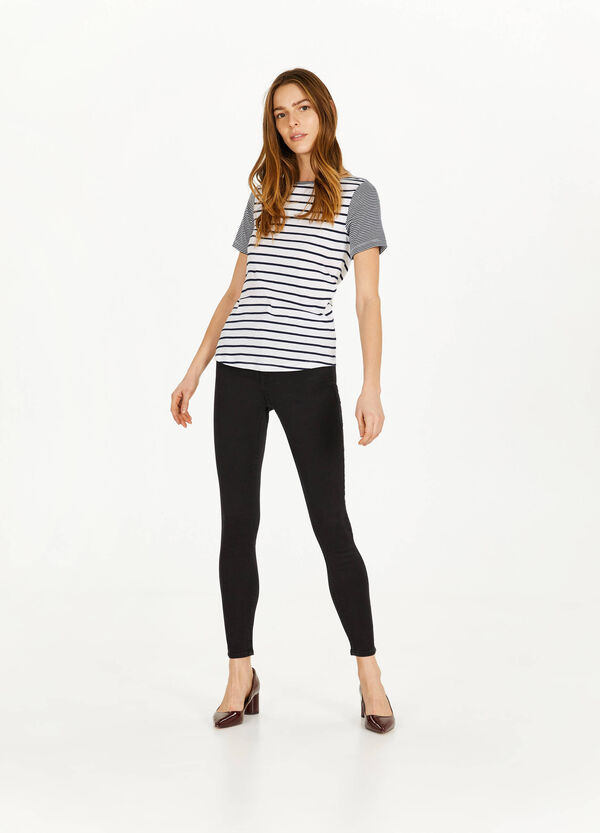 High-waist, skinny-fit stretch jeans