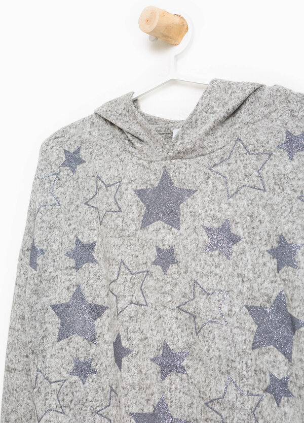 Pullover stretch stelle glitterate