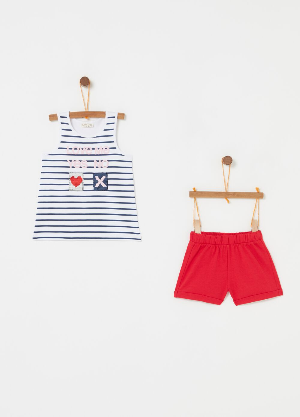 Set top e shorts fantasia e stampa