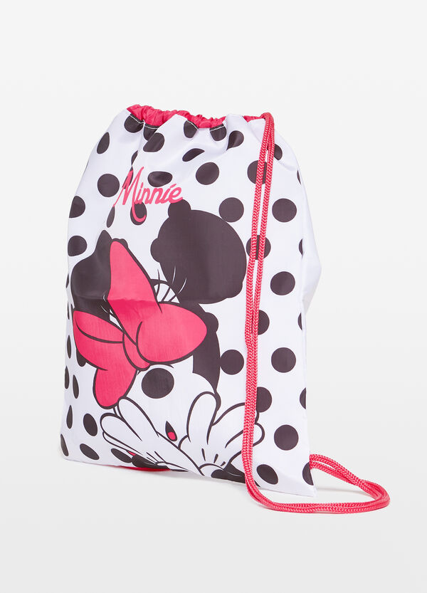 Polka dot bag with Minnie Mouse print