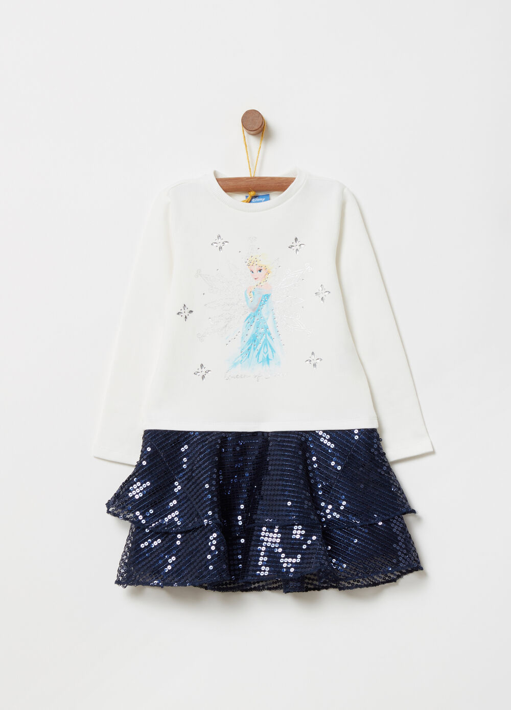 Fleece outfit with Frozen print tulle