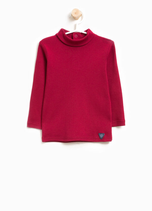 100% cotton turtleneck jumper with long sleeves | OVS