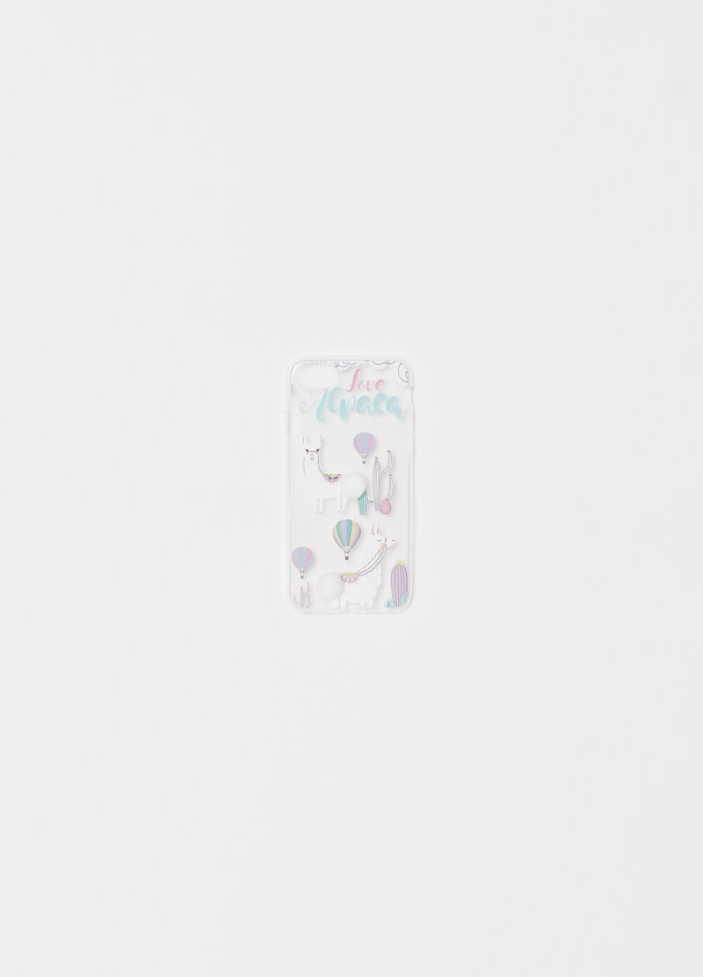 Telephone cover with glitter print