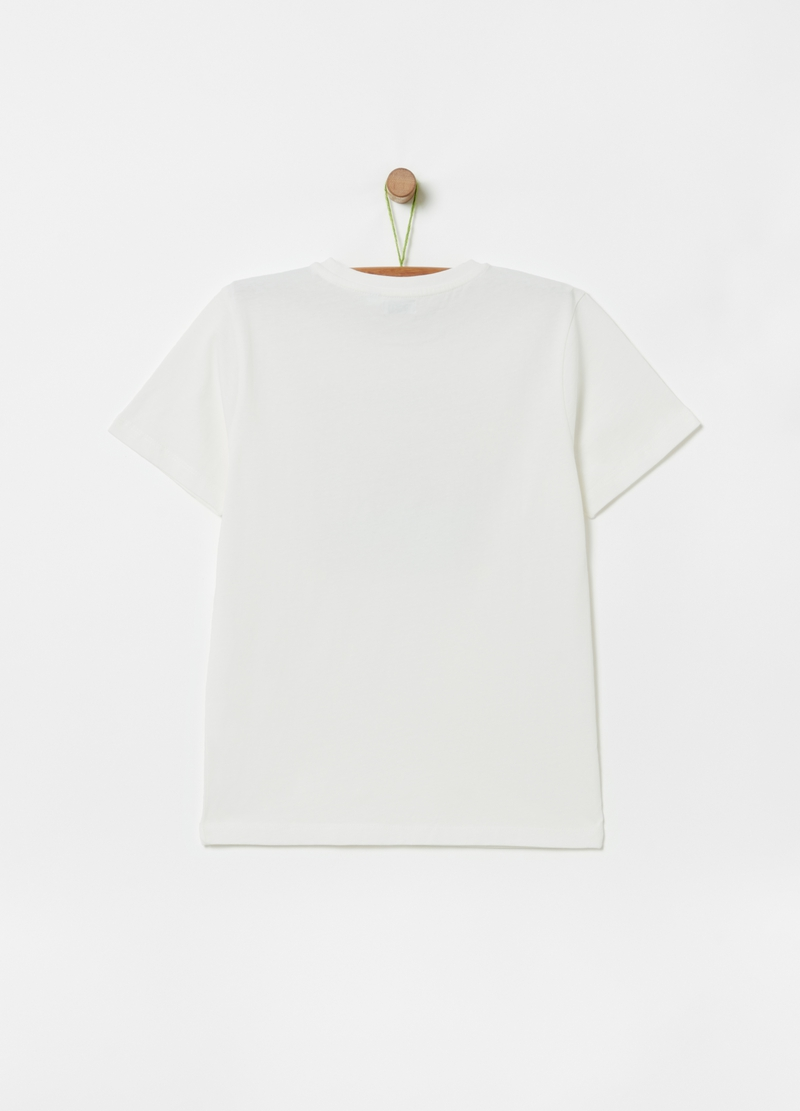 T-shirt in puro cotone stampa surf image number null