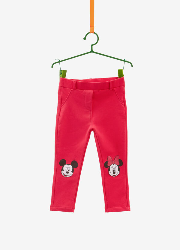 Cotton trousers with Mickey and Minnie Mouse
