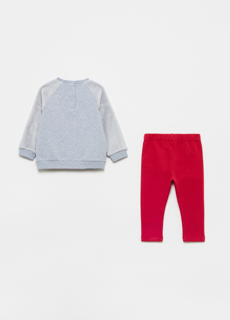 Top and trousers jogging set with sheep embroidery image number null