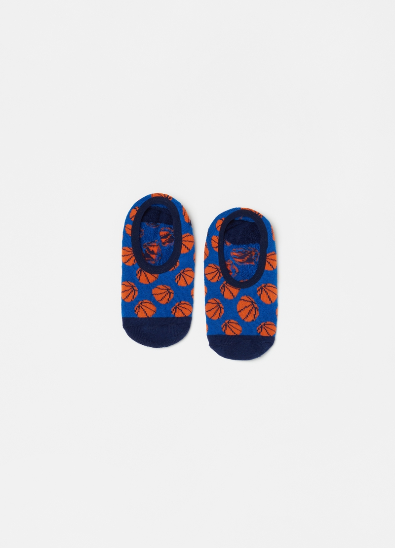 Slipper socks with basketballs image number null