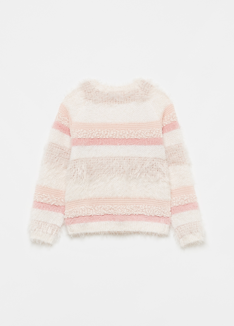Bouclé-effect pullover with lurex details image number null