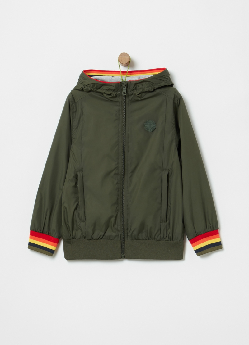 Lightweight nylon bomber jacket image number null