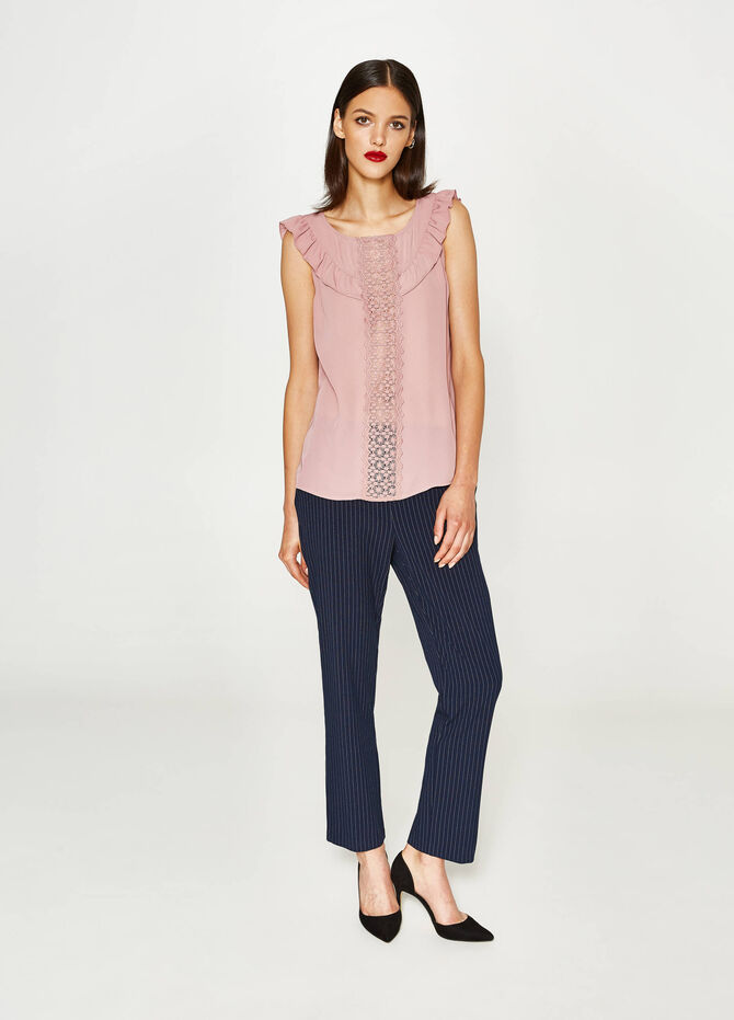 Top with lace and flounce