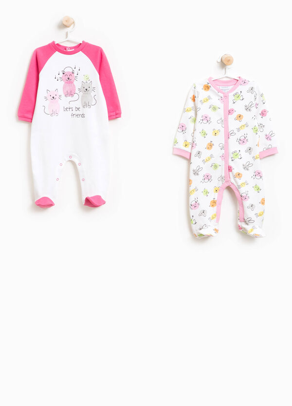 Two-pack printed and patterned pyjamas onesies | OVS