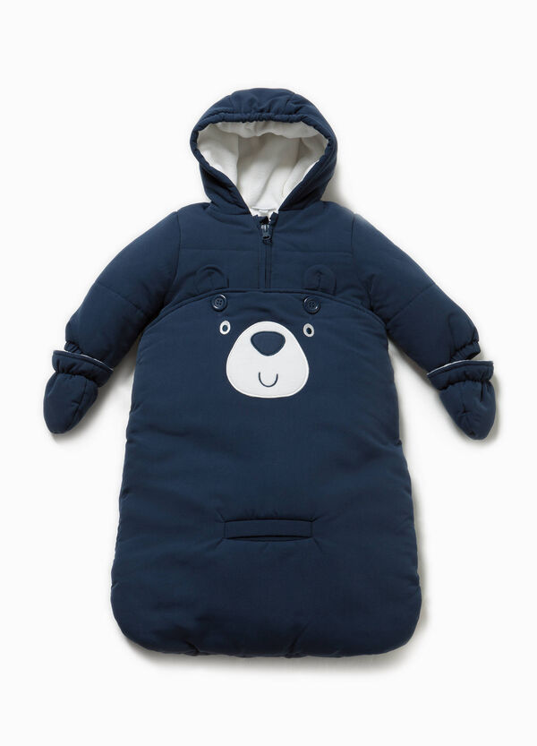 Quilted onesie bag with mittens | OVS