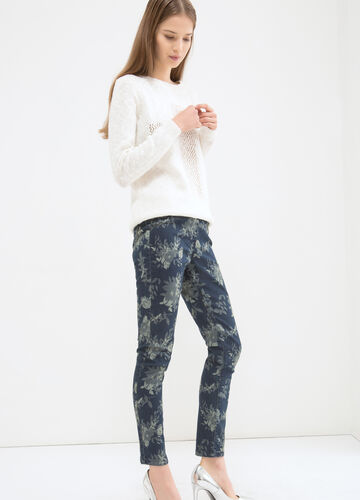 Jeggings stretch fantasia fiori