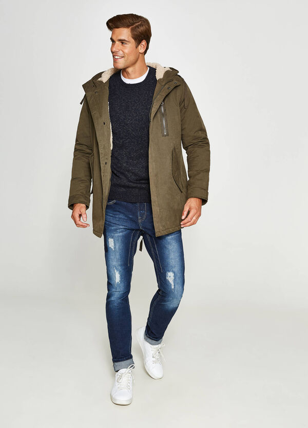 Parka with hood in faux fur | OVS