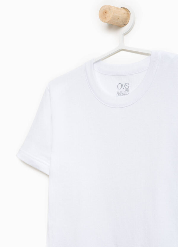 Solid colour undershirt in 100% cotton