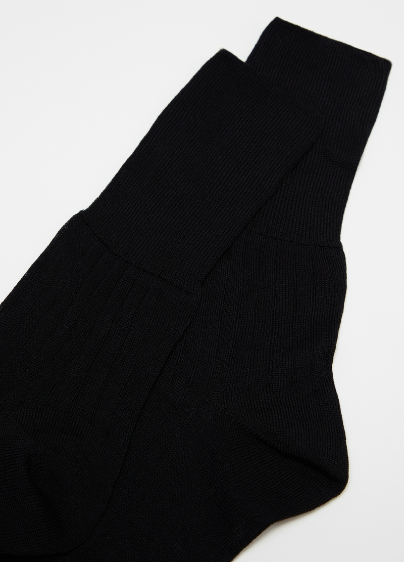 Long socks in cashmere blend image number null