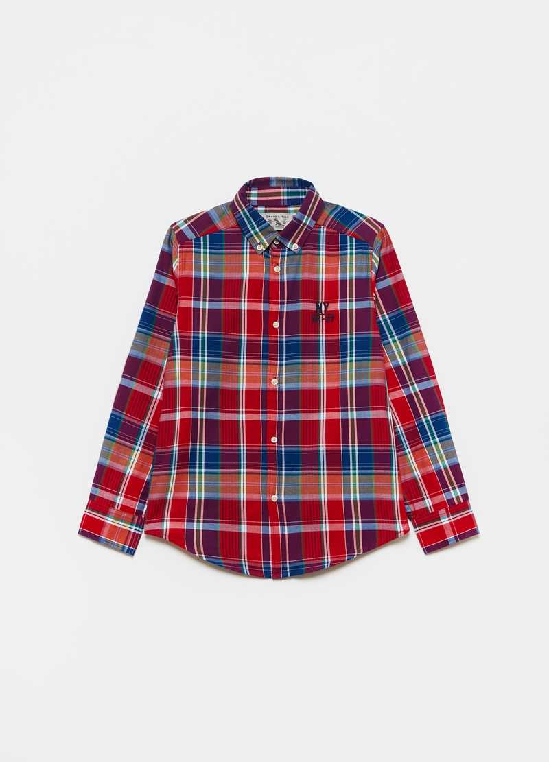 Camicia button-down fantasia check image number null